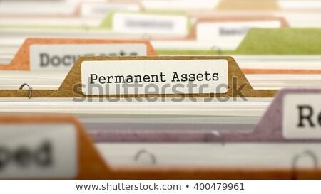 Tőke akta címke kártya közelkép kilátás Stock fotó © tashatuvango
