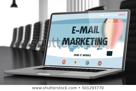 E-mail Marketing on Laptop in Conference Hall. 3D. stock photo © tashatuvango