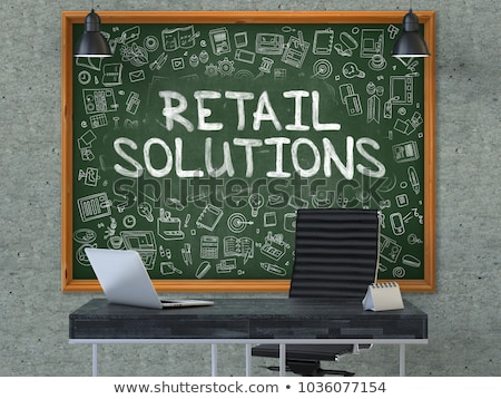 Green Chalkboard with Hand Drawn E-Commerce Solution. Stock photo © tashatuvango