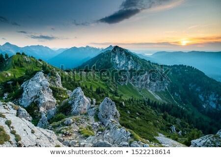 Alpes panorama frontera Alemania Austria otono Foto stock © dirkr