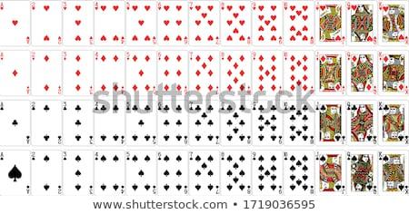 Vettore poker nero giocare carta simboli Foto d'archivio © kurkalukas