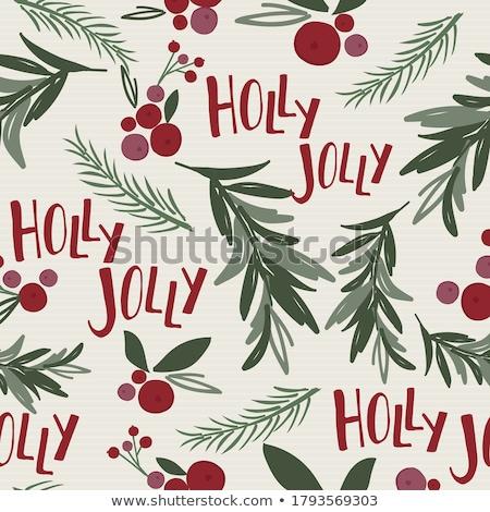 Vettore acquerello illustrazione vischio Natale vernice Foto d'archivio © Sonya_illustrations