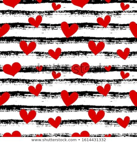 sin · costura · corazones · patrón · textura · del · papel · vector · eps10 - foto stock © ekzarkho