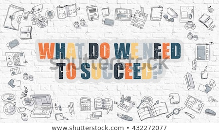 What Do We Need to Succeed in Multicolor. Doodle Design. Stock photo © tashatuvango