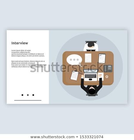 Lądowanie strona laptop książki teraz napis Zdjęcia stock © tashatuvango