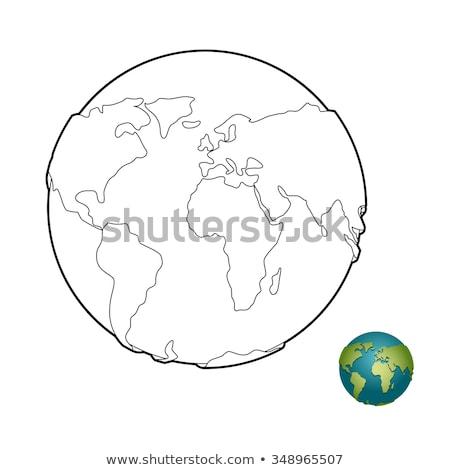 Tierra libro para colorear celestial cuerpo planeta mundo Foto stock © popaukropa