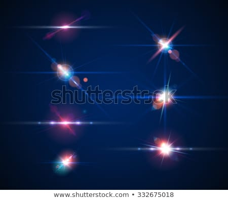 collection of transparent lens flares light effect with twinkle stock photo © sarts