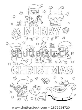 hópelyhek · szett · vektor · illustrator · hó · zöld - stock fotó © robuart