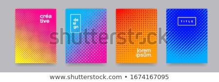 blue circle halftone pattern background Stock photo © SArts