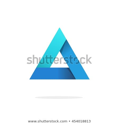 Business card template with colorful pyramid logo Stock photo © studioworkstock