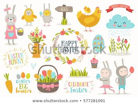 イースターエッグ ハンター 実例 卵 バニー ストックフォト © WaD