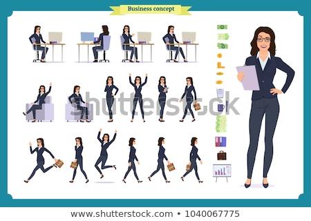 Femme d'affaires séance bureau blanche affaires Photo stock © wavebreak_media