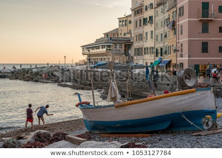 Genova harbour with promenade Stock photo © Antonio-S