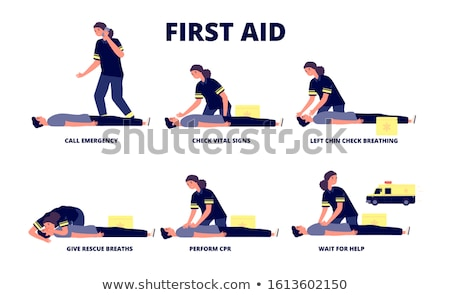 Paramedic training cardiopulmonary resuscitation to man Stock photo © wavebreak_media