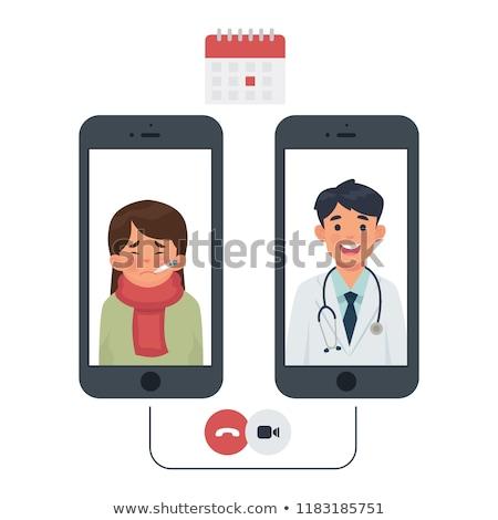 orvos · kezet · fog · beteg · izolált · megbeszélés · absztrakt - stock fotó © freeprod