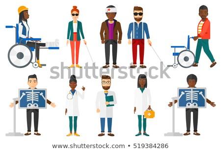 Jóvenes hombre radiografía femenino paciente Foto stock © RAStudio
