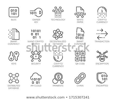Teknoloji ikon modern bilgisayar ağ imzalamak Stok fotoğraf © WaD