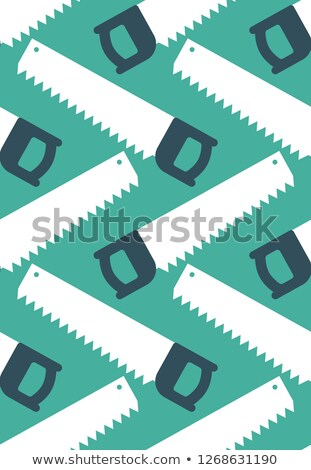 Saw seamless pattern. Locksmith tool ornament. Industry backgrou Stock photo © popaukropa