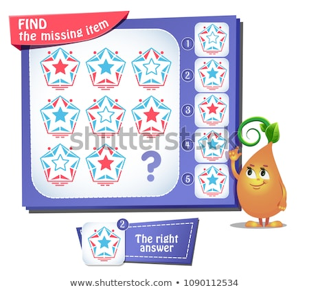 Find the missing item star iq Stock photo © Olena