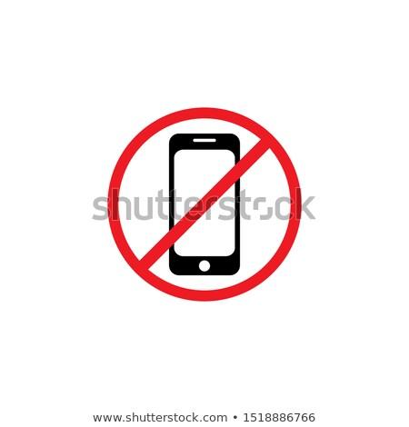 geen · mobiele · telefoon · teken · witte · telefoon · weg - stockfoto © romvo