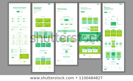 Web Page Design Vector. Website Business Graphic. Responsive Interface. Landing Template. Entertainm Stock photo © pikepicture