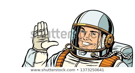 男性 宇宙飛行士 投票 手 アップ ポップアート ストックフォト © studiostoks