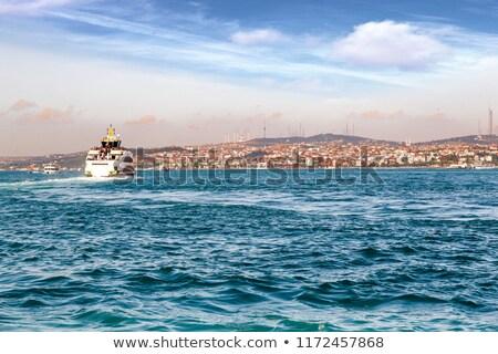 Or corne Istanbul bateaux vue Photo stock © Givaga