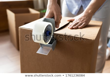 House in a cardboard box. Concept of buying a dwelling Stock photo © alphaspirit