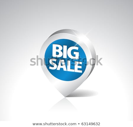 Stock photo: round 3d pointer for big sale