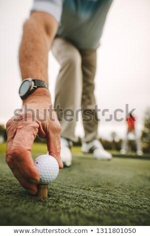 golf · kéz · golfozó · felfelé · vezetés · terjedelem - stock fotó © kzenon