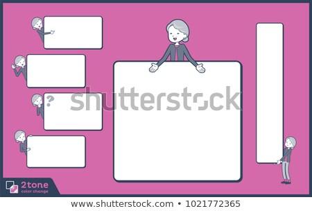 Type 14 vrouw vak communicatie borden Stockfoto © toyotoyo