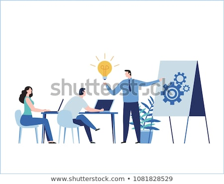 бизнеса Идея баннер изображение бизнесмен Сток-фото © Genestro