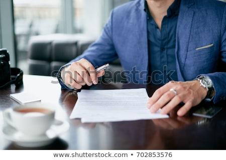 hand · vulling · contract · vorm · afbeelding - stockfoto © andreypopov