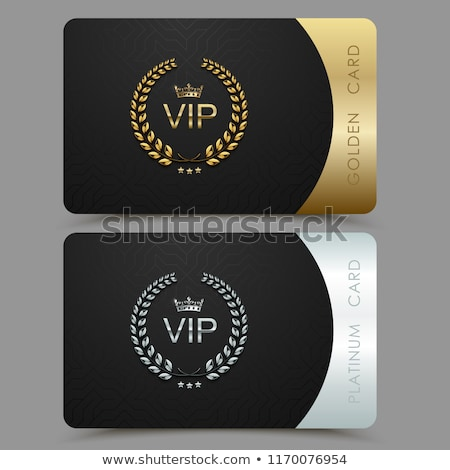 Vektor vip arany platina kártya fekete Stock fotó © Iaroslava