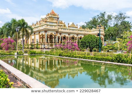 Templo delta Vietnã pormenor asiático paz Foto stock © boggy