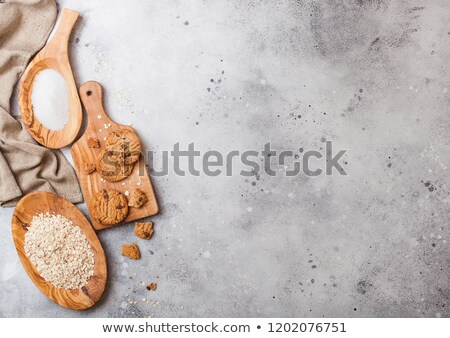 egészséges · organikus · zab · sütik · csokoládé · fa · deszka - stock fotó © denismart