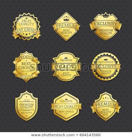 Ekskluzywny premia marka etykiety plakat Zdjęcia stock © robuart