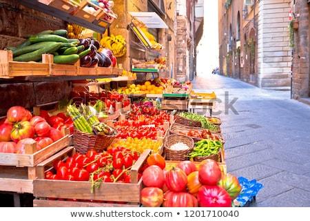 フルーツ 青物市場 狭い フィレンツェ 通り トスカーナ ストックフォト © xbrchx