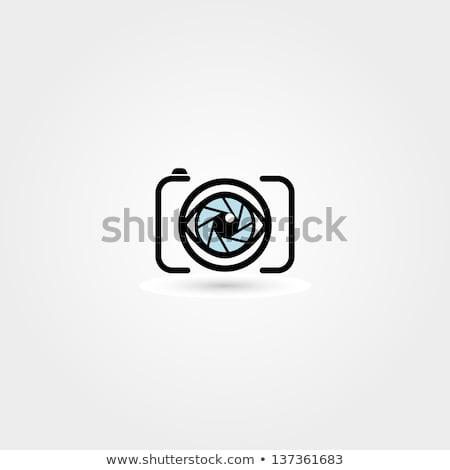 Szem kamera fotózás alkalmazás vektor Stock fotó © vector1st