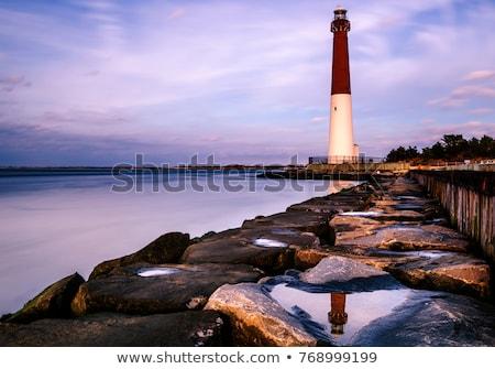 Vuurtoren New Jersey eiland USA reizen Stockfoto © benkrut