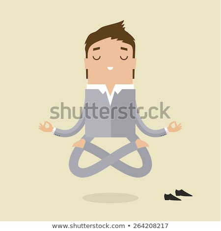 donna · yoga · posizione · umorismo · cartoon · illustrazione - foto d'archivio © izakowski