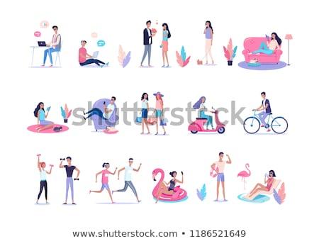 Freelance colorido mulher borracha círculo Foto stock © robuart