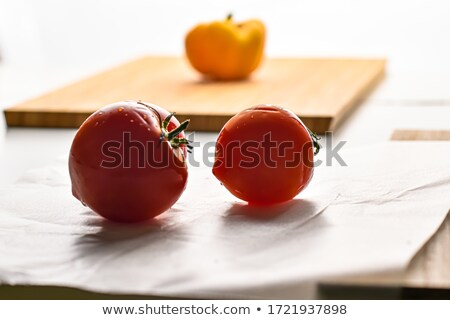 Set of ripe and juicy red tomatoes. It is isolated on white back Stock photo © kayros