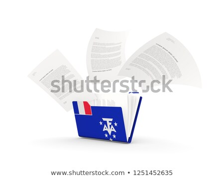 Folder with flag of french southern territories Stock photo © MikhailMishchenko