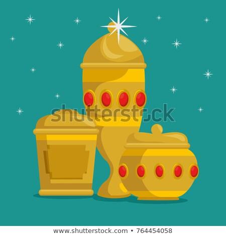 frankincense myrrh and gold star stock photo © olena