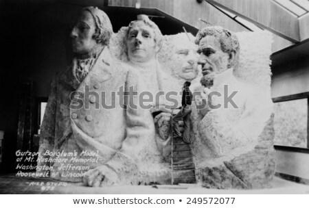 Sculpteur faillite sculpture Mont Rushmore homme couleur Photo stock © iofoto