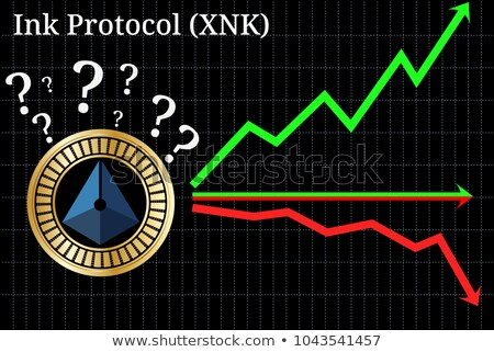 Ink Protocol Digital Currency - Vector Graphic Symbol. Stock photo © tashatuvango