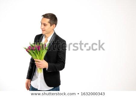 bonito · cavalheiro · isolado · branco · moda - foto stock © feedough