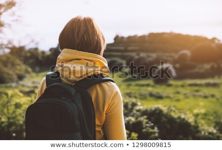 Hikers in the green mountains Stock photo © Ustofre9