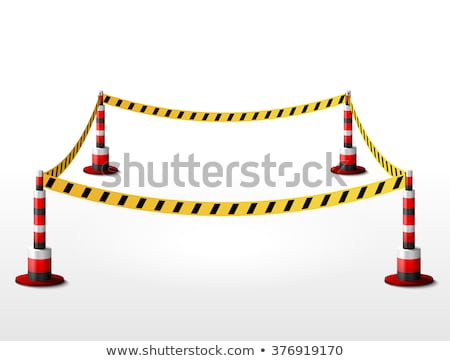 Danger zone with fence. Stock photo © biv